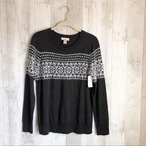 [LOFT] Ann Taylor Nordic Fair Isle Fuzzy Sweater